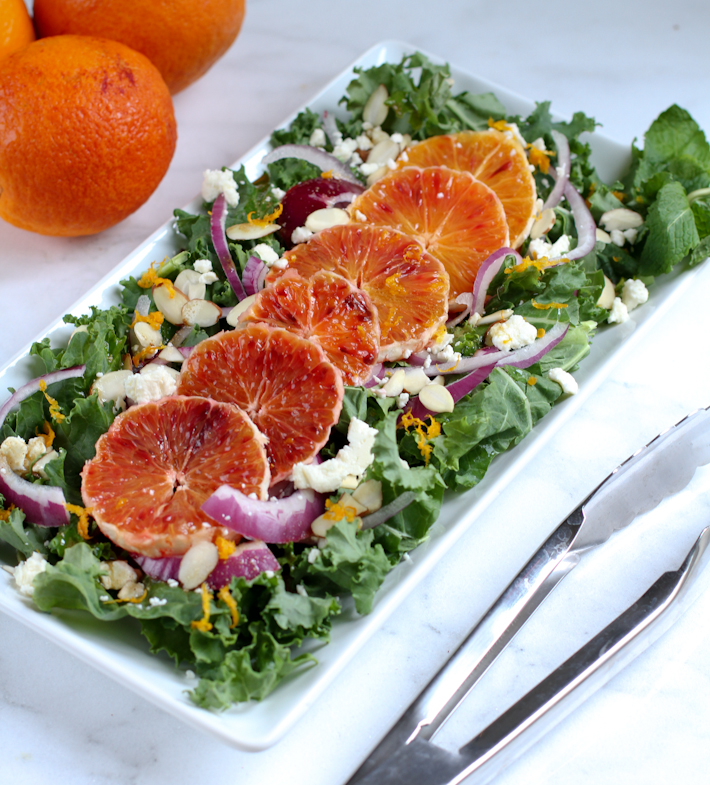 Kale and blood orange salad || Joyfully So