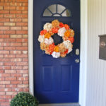 DIY Easy Fall Hydrangea Wreath + Freshly Painted Front Door