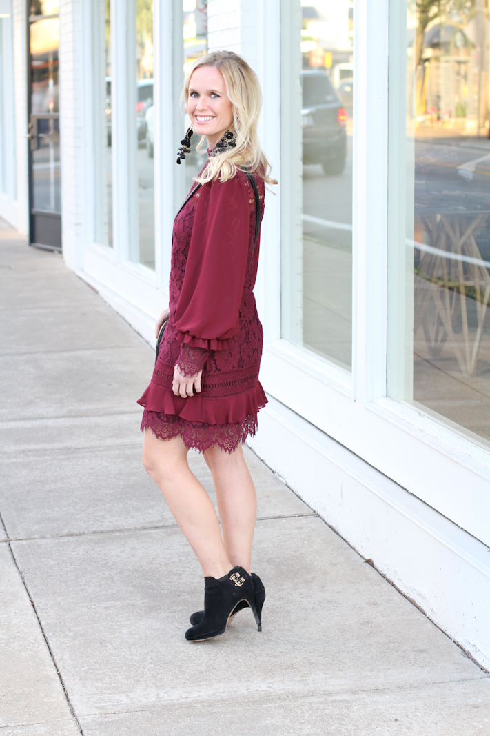 sheath lace dress for holiday season, Christmas and Thanksgiving